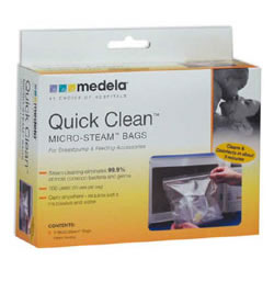 how to use medela steriliser bags